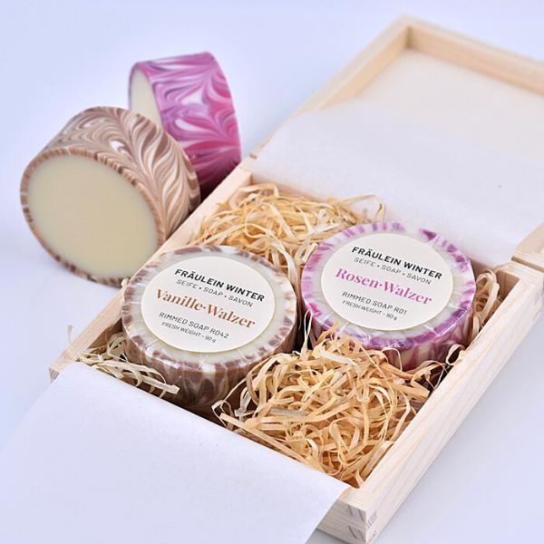 Geschenkbox mit Rimmed Soaps - Variante 1