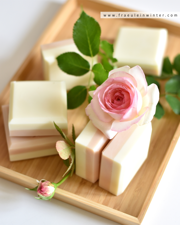 Handgemachte Rosenseife